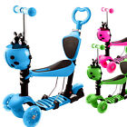 5 in 1 Scooter for Kids Premium Toddler Scooters w 3 Flashing Wheels 3 Height
