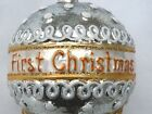 Christopher Radko 2008 1st Christmas Ornament Silver And Gold BABY Ball Drop