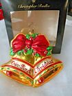 Christopher Radko OUR FIRST CHRISTMAS 2005 Glass Ornament Christmas Bells 4