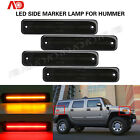 For 2003 2009 HUMMER H2 Smoked Front Rear LED Side Marker Light Kit Amber Red 4X
