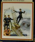 Original Artwork by Ed Vebell 1st Day Cover of Admiral Farragut at Mobile Bay