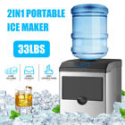 262733 Lbday 2in1 Portable Electric Ice Maker Compact Water Dispenser Machine