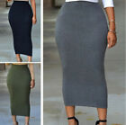 Women Muslim Thin Bodycon Slim Skirts Ladies High Waist Stretch Pencil Dress US