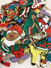 49 paint on wood painted flat Christmas ornaments 1970s Nativity plus many other