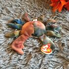 RARE Ty Beanie babies Retired CLAUDE The Crab with ALL CAPS Tag Error 1996