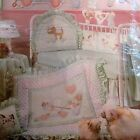 Vtg Daisy Kingdom cotton fabric panel BABY QUILT TOP  Headboard bumper Pull Toy