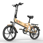 ENGWE Folding Electric Bike with 48V 8AH Removable Battery and 6 Speed Gears