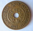 1961 RHODESIA  NYASALAND PENNY AU High Value African Coin Lot N20