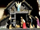 Nativity Manger Scene Vintage In Original Box