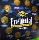 Sunoco Set Of 10 USA President Coins On Display Holder Card Great Christmas Gift