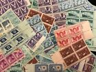 US MINT POSTAGE stamp lot collection 25 3 cent blocks of 4  100 stamps