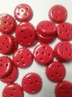 15 Candy Red Salt and Pepper Caps For Soda Beer Bottle Aluminum