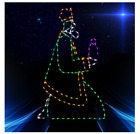 Nativity Kneeling Wiseman Nativity Outdoor LED Lighted Decoration Wireframe