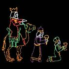 3 Wise Men Large Nativity Holiday Outdoor LED Lighted Decoration Steel Wireframe
