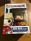 Funko Iron Man Civil War Unmasked Pop Hot Topic Exclusive