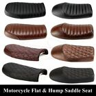 Motorcycle Cafe Racer Seat Flat & Hump Saddle For Honda CB Suzuki GS Yamaha GN