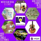 INKJET CLEAR Waterslide Decal Transfer Paper 85 x 11 5 Sheets Made In USA