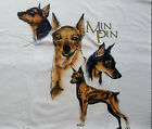 Miniature Pinscher T shirt  White  2XL  50 52