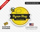 50 CUSTOM LABELS PRODUCT STICKERS WRAPPER LABEL DIE CUT LABEL YOUR LOGO