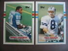 1989 Topps Traded Football - Barry Sanders AND Troy Aikman RC - Best of the Set