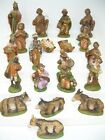 Lot of 20 Vintage Italy Paper Mache Composition Nativity Figurines