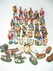 Lot of 44 Vintage Italy Paper Mache Composition Nativity Figurines