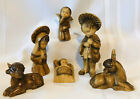 Vintage ORTIGAS Nativity Figures Made in Spain 6 Piece IOB Tallest 5