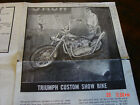 Revell Triumph Custom Show Bike Model Kit instruction sheet /sheets / book