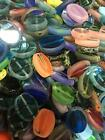 Beads Table Cut Oval mixed Czech Glass Beads 50 pcs approximately