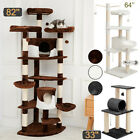 Sisal Scratching Post Cat Tree House Condo Tower Play Kitty Climbing Furniture