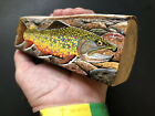 Steve ShanerBrook trout White Birchnativefishingstreamcabin decorpainting