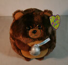 "Ty Beanie Ballz Morsel The Bear Hershey Kisses 5"" Plush -NEW W/TAGS- FREE SHIP!"