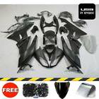 For Kawasaki Ninja ZX-6R 2009-2012 Matte Black ABS Fairing Kit Bodywork w/ Bolts
