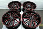 17 4x100 4x1143 Red Wheels Fits Mini Clubman Cooper Tiburon Accent 4 Lug Rims