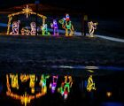 Complete Large Nativity Holiday Outdoor LED Lighted Decoration Steel Wireframe