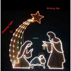 6 LIGHTED OUTDOOR NATIVITY 408 LED SCENE SET MOTION