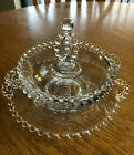 Vintage 2 Tier Glass Candy Dish Bowl
