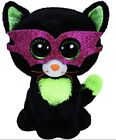 Ty HALLOWEEN Beanie Boo JINXY the BLACK CAT w/Mask NWT Retired 6