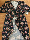 LuLaRoe Shirley S Small Floral Blue Navy Pink Red NWT