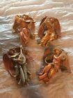 Lots 4 Fontanini ESimonelli Angels with Instruments Figurine Depose Italy 467