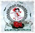 Betty Boop Birthday Wishes Cut Glass Round Plaque Gift Limited Edition 1