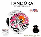 New Authentic S925 ALE Pandora Charm Bead Tropical Paradise Sunset 792116ENMX