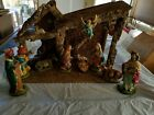 Very Large Nativity Set 11 Pieces Made in Italy withCreche