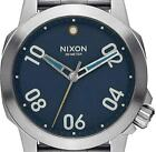 New $200 Nixon Ranger 40 Silver Blue Quartz  Men's Watch A468-2076 DAMAGED BOX