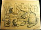 Retired HOUSE MOUSE Rubber Stamp  435M Bunny RN Friends 1999 Nurse