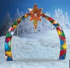 Outdoor Lighted Mosaic Arch w Star of Bethlehem Christmas Nativity Display NIB