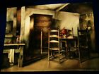 MARILYN CALDWELL LARGE ORIGINAL WATERCOLOR EARLY AMERICAN INTERIOR SIGNED