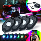 4pcs Underglow RGB Rock Lights Multicolor Neon LED Light for Off Road Trucks UTV