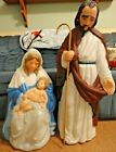 VTG 36 TPI JOSEPH MARY JESUS NATIVITY CHRISTMAS BLOW MOLD LIGHT UP YARD DECOR