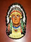 RARE Vintage INDIAN CHIEF Native American HEAD VASE hand made Japanese g3